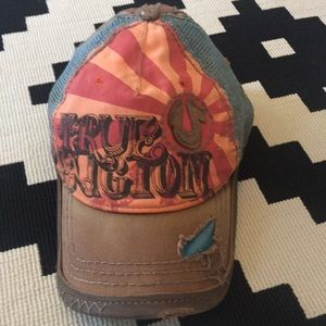 True Religion hat -EUC